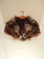 Silver tipped arctic fox cape