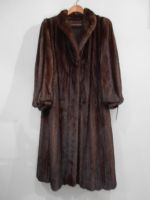Mid dark brown mink coat