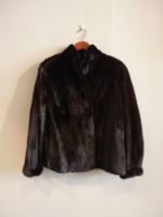 Black Saga mink jacket