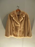 Light caramel mink jacket