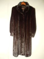 Black/brown mink coat