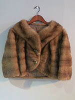 Dark caramel mink cocktail jacket