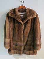 Dark caramel mink jacket