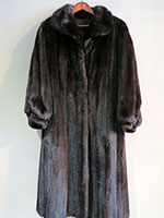 Long mahogany swing mink coat